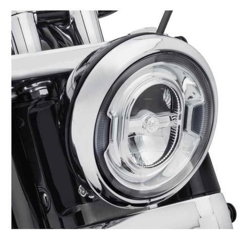 Harley-Davidson® 7in. Daymaker Signature Reflector LED Headlamp - Chrome 67700353 - Wisconsin Harley-Davidson