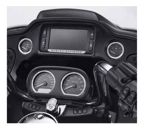 Harley-Davidson® 4-Piece Defiance Gauge Bezels Fairing Kit-Chrome Finish 61400359 - Wisconsin Harley-Davidson