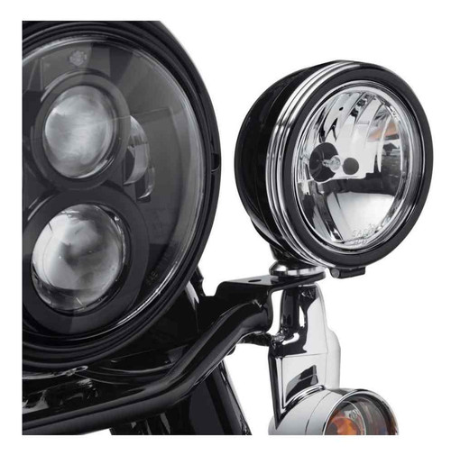 Harley-Davidson® 4in. Defiance Auxiliary Lamp Trim Rings - Black Machine 61400355 - Wisconsin Harley-Davidson