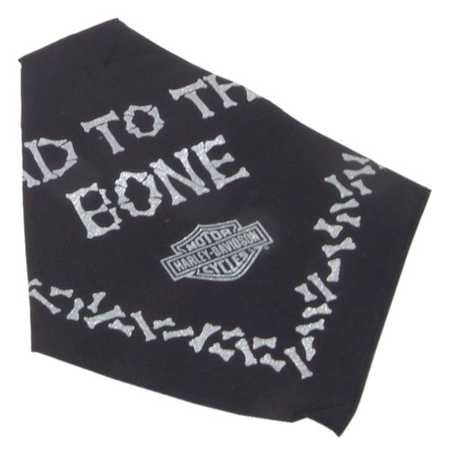 Harley-Davidson® Bad To The Bone Pet Tie Bandana - LG 30in, Black H2300HBK530 - Wisconsin Harley-Davidson