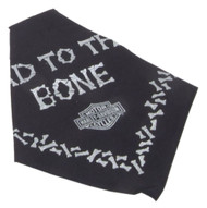 Harley-Davidson® Bad To The Bone Pet Tie Bandana - LG 30in, Black H2300HBK530 - Wisconsin Harley-Davidson