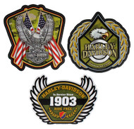 Harley-Davidson® Salute Military 3pack Decal Kit, 4.75 x 6.25 inches CG45029 - Wisconsin Harley-Davidson