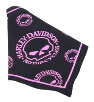 Harley-Davidson® Pink Willie G Skull Pet Tie Bandana - SM 20in, Black H2300HWGP20 - Wisconsin Harley-Davidson