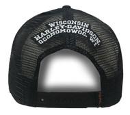 Harley-Davidson® Mens Embroidered H-D Willie G Skull Baseball Cap, Black BCC04330 - Wisconsin Harley-Davidson