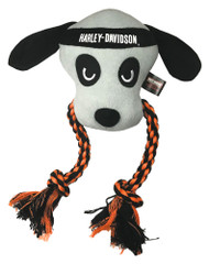 Harley-Davidson® Stitched Dog Rope Tug Plush Squeaker Toy - 10 inch H8400P22DOG - Wisconsin Harley-Davidson