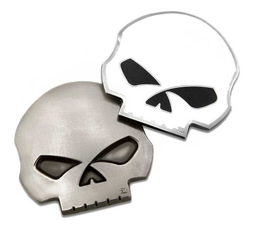 Harley-Davidson® Die-Cut 3D Willie G Skull Logo Challenge Coin, 1.75 in 8008598 - Wisconsin Harley-Davidson