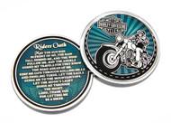 Harley-Davidson® Rider's Oath Challenge Coin, 1.75 in Coin, Blue & Silver 8008581 - Wisconsin Harley-Davidson