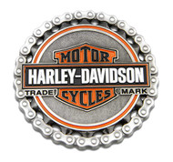 Harley-Davidson® Trademark B&S Chain Heavy-Duty Metal Magnet, 3 in. 8008529 - Wisconsin Harley-Davidson