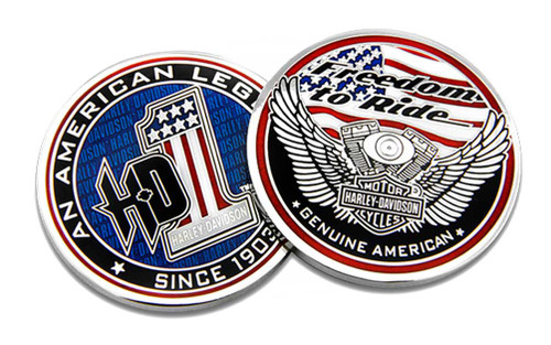 Harley-Davidson® American Legend #1 Challenge Coin, 1.75 in Coin 8008482 - Wisconsin Harley-Davidson