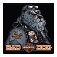 Harley-Davidson® Bad Dog Bar & Shield Embossed Tin Sign, 14.5 x 14.5 inch 2011791 - Wisconsin Harley-Davidson