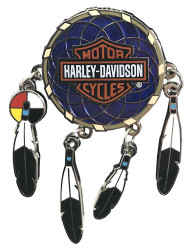 Harley-Davidson® Dreamcatcher with Bar & Shield Metal Pin, Multicolored 118606 - Wisconsin Harley-Davidson