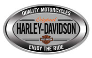 Harley-Davidson® Enjoy Ride Oval Embossed Tin Sign, 18 x 10.5 inches 2011591 - Wisconsin Harley-Davidson