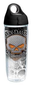 Harley-Davidson® Flames Willie G Skull Water Bottle w/ Black Lid, 24 oz. 1287293 - Wisconsin Harley-Davidson