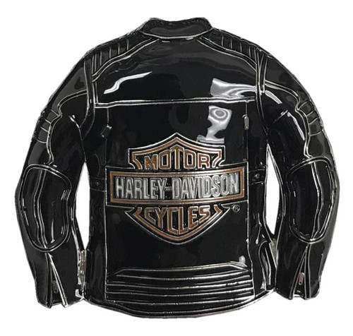 Harley-Davidson® 3D Bar & Shield Motorcycle Jacket Metal Pin, Black, 240227 - Wisconsin Harley-Davidson