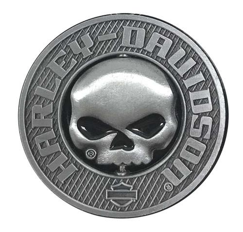 Harley-Davidson® 3D Willie G Skull Spinner Metal Pin, Silver Coloring, 210009 - Wisconsin Harley-Davidson