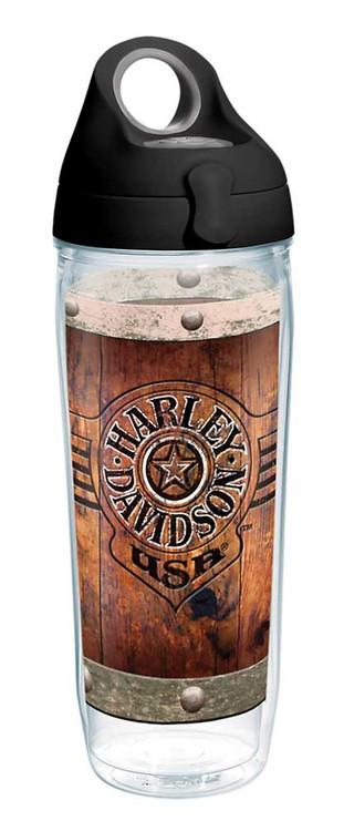 Harley-Davidson® Burnt Wood Rivets Water Bottle w/ Black Lid, 24 oz. 1287286 - Wisconsin Harley-Davidson