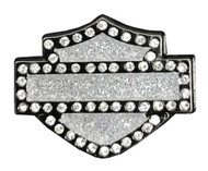 Harley-Davidson® Open Bar & Shield Logo with Rhinestones Pin, 1 x .75 Inch 51988 - Wisconsin Harley-Davidson