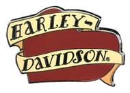 Harley-Davidson® H-D Script Banners & Heart Pin, Red & Tan 1.75 x .75 Inch 302592 - Wisconsin Harley-Davidson