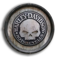 Harley-Davidson® 15in Stand-Off Willie G Skull Cut-Out Barrel End BE-SM-ACSK-HARL - Wisconsin Harley-Davidson