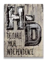 Harley-Davidson® Aluminum H-D Cut-Outs Wood Slats Sign, 17 x 23 W6-ACCU-HAD-HARL - Wisconsin Harley-Davidson