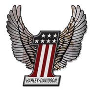 Harley-Davidson® Aluminum Wings #1 Hardboard Sign, 20 x 23 inch. ACCU-HD1-HARL - Wisconsin Harley-Davidson