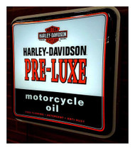 Harley-Davidson® Pre-Luxe Oil Can Square Pub Light, 19.75 x 19.75 inch HDL-15626 - Wisconsin Harley-Davidson