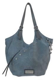 Harley-Davidson® Women's Black & Blue Stonewashed Leather Surplus Bag SD2513L-DEN - Wisconsin Harley-Davidson