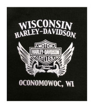 Harley-Davidson® Women's Genuine Flight Short Sleeve Crew Neck Tee, Black - Wisconsin Harley-Davidson