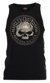 Harley-Davidson® Men's Smokey Willie G Skull Sleeveless Tank, Black R002318 - Wisconsin Harley-Davidson