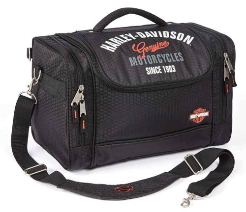 Harley-Davidson® Extreme Hop Along IV Honeycomb Fabric Bag, Black 99211-BLACK - Wisconsin Harley-Davidson