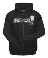 Harley-Davidson® Men's #1 TNT Zippered Hooded Sweatshirt, Black R001826 - Wisconsin Harley-Davidson