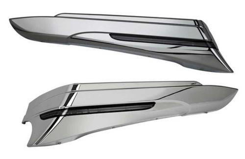 Ciro Saddlebag Extensions (Pair) 14-up Harley Road, Electra Glides Chrome or Blk - Wisconsin Harley-Davidson