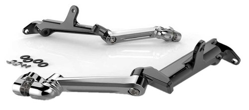 Ciro Frame Mounted Adjustable Highway Harley Peg Mounts Chrome or Black Finishes - Wisconsin Harley-Davidson