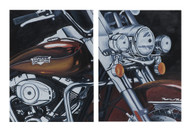 Harley-Davidson® Road King Limited Edition Hand Painted Artwork HDP-RA04 - Wisconsin Harley-Davidson