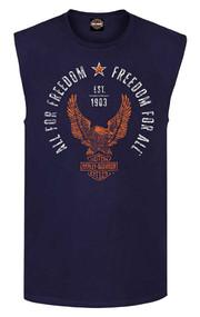 Harley-Davidson® Men's Find Freedom Sleeveless Classic Tank, Navy R002999 - Wisconsin Harley-Davidson