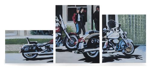 Harley-Davidson® Biker Cafe Limited Edition Hand Painted Artwork HDP-RA02 - Wisconsin Harley-Davidson