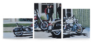 Harley-Davidson® Biker Cafe Limited Edition Hand Painted Artwork HDP-RA02 - Wisconsin Harley-Davidson