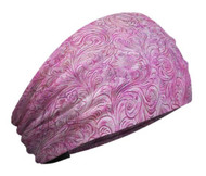 That's A Wrap Women's Tooled Leather Look Knotty Band Headwrap, KB3025-Pink - Wisconsin Harley-Davidson