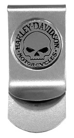 Harley-Davidson® Men's Willie G Skull Metal Money Clip, Silver CORESM95-NICKEL - Wisconsin Harley-Davidson