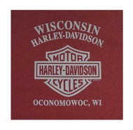 Harley-Davidson® Little Boy's Crazy Fun Long Sleeve Crew-Neck Jersey Tee, Red - Wisconsin Harley-Davidson