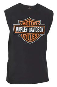 Harley-Davidson® Men's Classic Bar & Shield Logo Sleeveless Muscle Tee, Black - Wisconsin Harley-Davidson