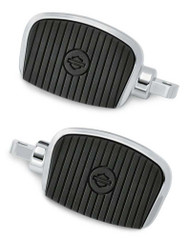 Harley-Davidson® Mini Footboard Kit, Small 3.0 inch - Chrome Finish 50500139 - Wisconsin Harley-Davidson