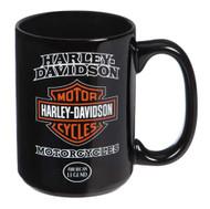 Harley-Davidson® American Legend Ceramic Coffee Cup, 15 oz. - Black 3AMB4900 - Wisconsin Harley-Davidson