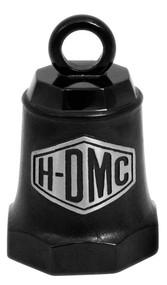 Harley-Davidson® Sculpted H-DMC Ride Bell, Matte Black & Silver Finish HRB094 - Wisconsin Harley-Davidson