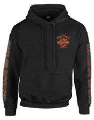 Harley-Davidson® Men's Eagle Piston Long Sleeve Pullover Hoodie, Black 30299949 - Wisconsin Harley-Davidson