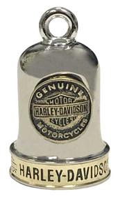 Harley-Davidson® Sculpted B&S Medallion Ride Bell, Brass & Steel Finish HRB095 - Wisconsin Harley-Davidson