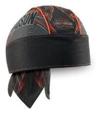 Harley-Davidson® Men's Tribal Edge Piping Perforated Headwrap, Black HW29364 - Wisconsin Harley-Davidson