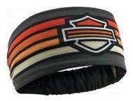 Harley-Davidson® Women's Summer Asphalt Headband Scrunchie, Black HE29238 - Wisconsin Harley-Davidson