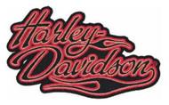 Harley-Davidson® Embroidered Harley Flame Emblem Patch, SM 4 x 1.4375 in EM295812 - Wisconsin Harley-Davidson