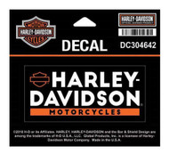 Harley-Davidson® Basic Text Decal, SM Size - 4 x 1.8125 inches DC304642 - Wisconsin Harley-Davidson